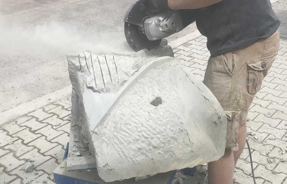 Gestaltung einer Steinskulptur
