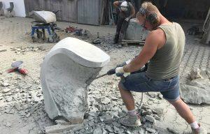 Arbeit am Stein