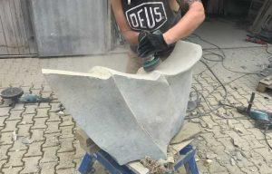 Skulptur Seeschlange