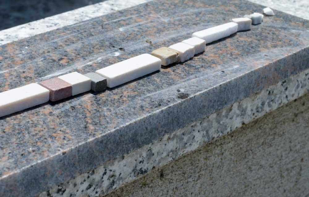 Mosaik für die Seeschlange in Bad Bayersoien