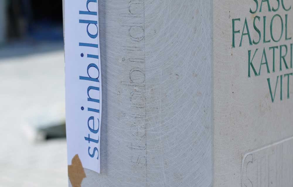 Schriftstele Steinbildhauersymposium